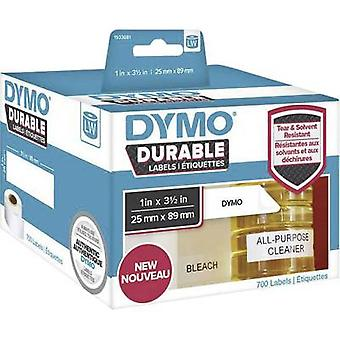 DYMO 1933081 Label roll 89 x 25 mm PE film White 700 pc(s) Permanent All-purpose labels, Address labels
