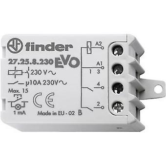 Finder 27.26.8.230.0000 10A Schritt Relais 27.26.8.230.0000 EVO 230 V AC DPST-Nr. 10 A Max 230 V AC (AC1) max. 2300 VA /(AC15 V) Max 500 VA