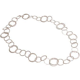 GEMSHINE 90 cm lange vrouwen ketting in kwalitatief hoogwaardige verwerking van mat zilver. Verstelbare ketting. Gemaakt in Madrid, Spanje. In de elegante sieraden met geschenkdoos geleverd.