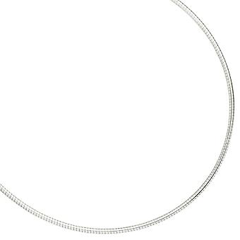 Necklace in 925 /-s 2.8 mm chokers necklace Sterling Silver of large diameter