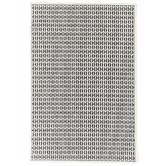 Outdoor carpet for Terrace / balcony black natural white Skandi look Stuoia Ecru black 155 / 230 cm carpet indoor / outdoor - for indoors and outdoors