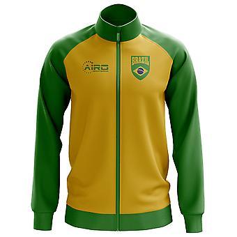 Brazylia koncepcja piłki nożnej Track Jacket (żółty) - dzieci