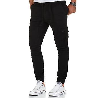 L.A.B 1928 men's cargo pants joggers black