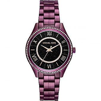 Michael Kors Watches Mk3724 Lauryn Purple, Black & Rose Gold Ladies Watch