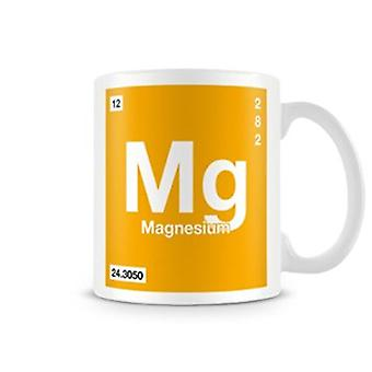 Scientific Printed Mug Featuring Element Symbol 012 Mg - Magnesium