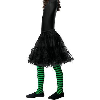 Wicked Witch Tights, Child, Green & Black