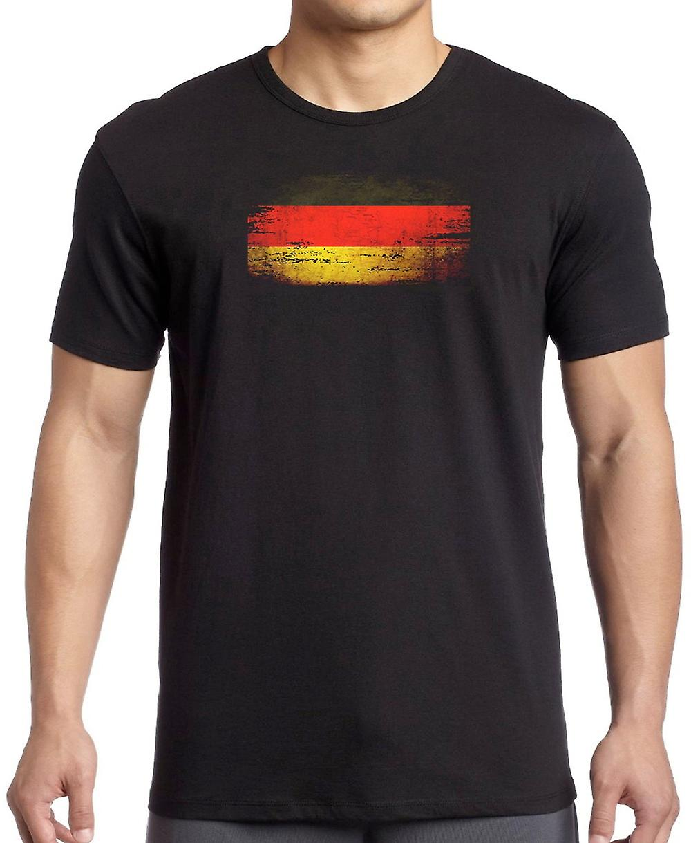 Deutsch Deutschland Grunge Flag - T-Shirt - 3XL