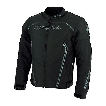 Richa Black Gotham Waterproof Motorcycle Jacket