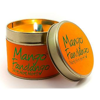 Lily Flame Scented Candle in a presentation Tin - Mango Fandango