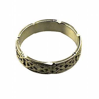 18 قيراط الذهب 4 مم سلتيك خاتم الزواج حجم ح