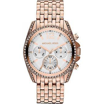 Michael Kors Pressley Ladies Womens Chronograph Gold Wrist Watch MK5836