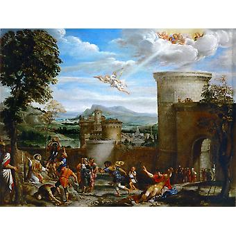 The Martyrdom of St. Stephen, Annibale Carracci, 50x40cm