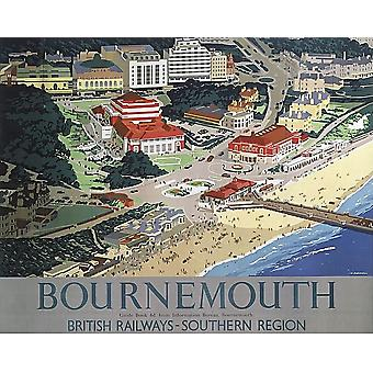 Bournemouth (old railway ad) Mouse Mat (se)