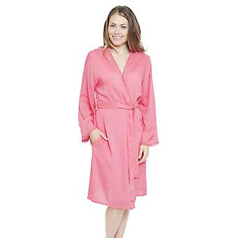Cyberjammies 4150 Women's Pippa Pink Dressing Gown Loungewear Bath Robe Kimono