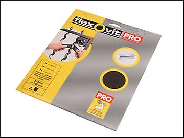 Flexovit Emery Cloth Sanding Sheets 230 x 280mm Assorted (3)