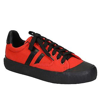 Céline Red Fabric Sneakers