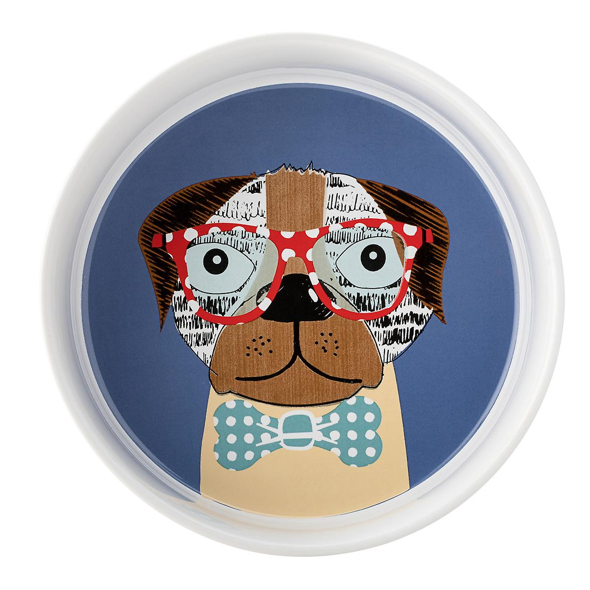 English Tableware Co. Perfect Pets Large Bowl, Dashing Dog