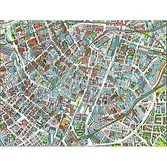 Cityscapes Street Map Of Manchester 400 Piece Jigsaw Puzzle 470mm x 320mm (hpy)