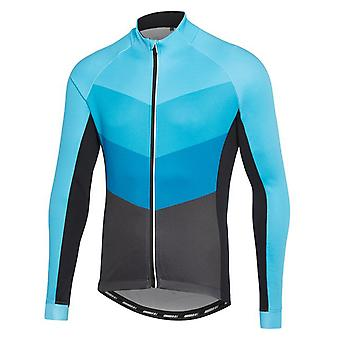 Madison Chevron-Blue-Phantom Sportive Thermal Long Sleeved Cycling Jersey