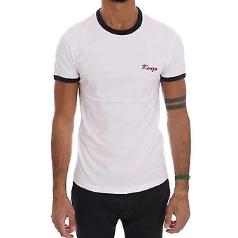White Stretch Mens Crewneck T-Shirt -- TSH1211568