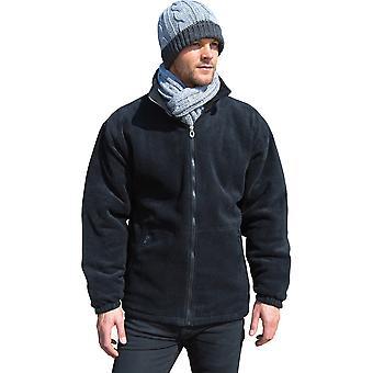 Outdoor Look Mens Core gewatteerde Fleece Full Zip Top Jacket.