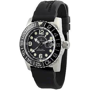 Zeno-Watch Herrenuhr Airplane Diver Quartz Points black 6349Q-GMT-a1