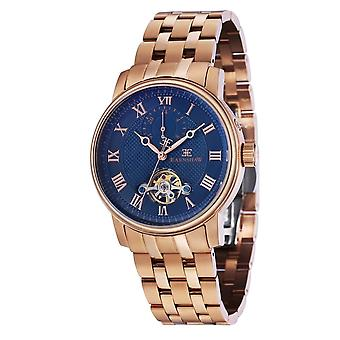 Thomas Earnshaw Es-8042-33 Westminster Blue & Rose Gold Stainless Steel Automatic Men's Watch