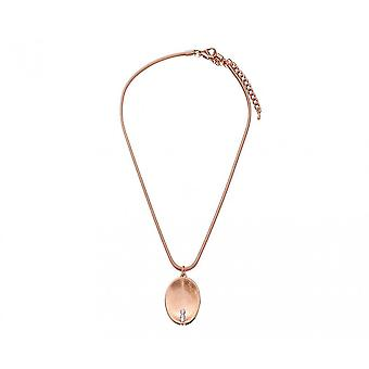 Fable Womens/Ladies Brushed Oval Pendant