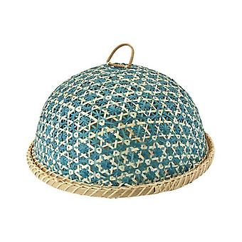 Handmade Bamboo Food Fruit Basket With Lid Round Kitchen Storage Decorative Food cover35cm