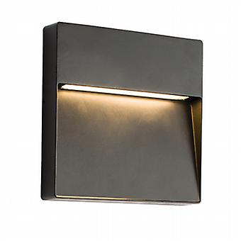 Endon 61342 Tuscana Outdoor Square Wall Light in Black Paint