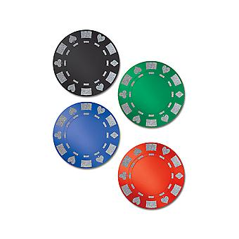 Brillaient Foil Poker Chip découpes