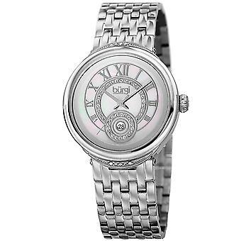 Burgi Women's Quartz  Mother of Pearl Dial Silver-Tone Bracelet Watch BUR164SS