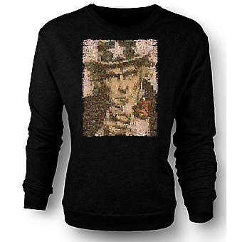 Mens Sweatshirt jeg ønsker deg - krigen plakat Collage - amerikanske krigen