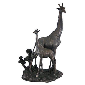 Mother And Child Giraffe Statue Baby Figure Animal