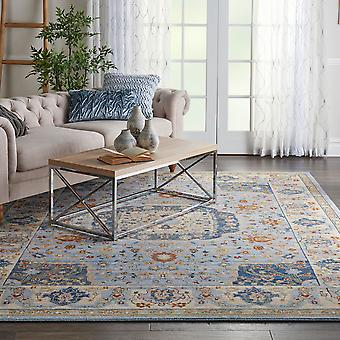 Majestic Nourison MST03 Light Blue  Rectangle Rugs Traditional Rugs