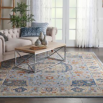 Majestätische Nourison MST03 hellblau Rechteck Teppiche traditionelle Teppiche