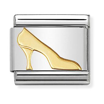 Nomination Classic High Heel Shoe Steel and 18k Gold Link Charm 030109/08