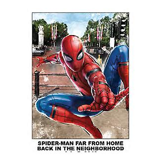 Super Soft Throws - Spiderman Far From Home - Back In The Neighborhood New 45x60