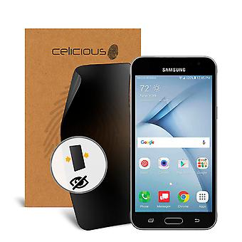 Celicious Privacy 2-Way Anti-Spy Filter Screen Protector Film Compatible with Samsung Galaxy J3 V