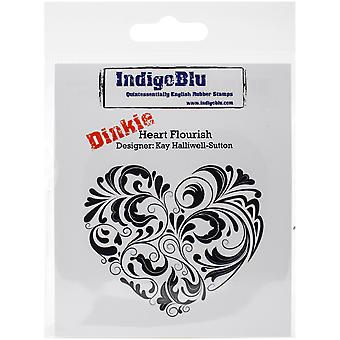 IndigoBlu Cling Mounted Stamp-Heart Flourish IND0148