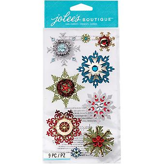 Jolee's Christmas Stickers Embellished Snowflakes E5050617