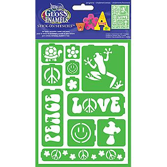 Gloss Enamels Stencil Sheet 1 Pkg Just Groovy Ags 200