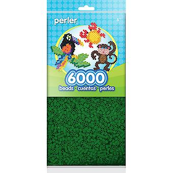 Mini Perler Beads 6,000/Pkg-Dark Green PBM80-11-11086