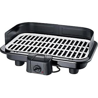 Electric Table grill Severin with manual temperature settings, with wind protection Black