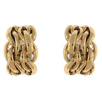 Clip On Earrings Store Gold Plait Semi Hoop Clip On Earrings