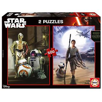Educa pussel Star Wars 2 x 500 bitar (barn, leksaker, bordsspel, pussel)