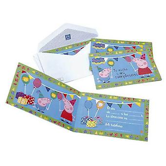 CPA 6 Invitations Peppa Pig Peppa Pig With About (Costumes)