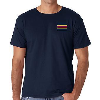 Veterinärmedicinska armékåren broderade TRF Logo - officiella brittiska armén ringspunnen T Shirt