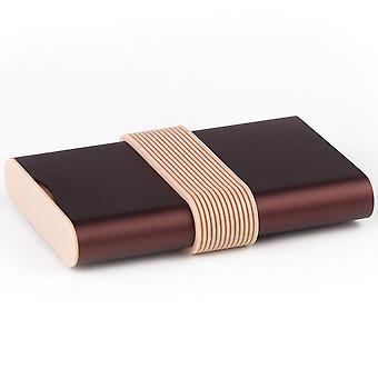 Burgundy Lexon Fine Power Bank