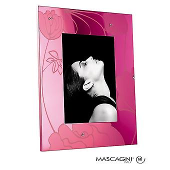 Mascagni Pink Flowers Photo Frame